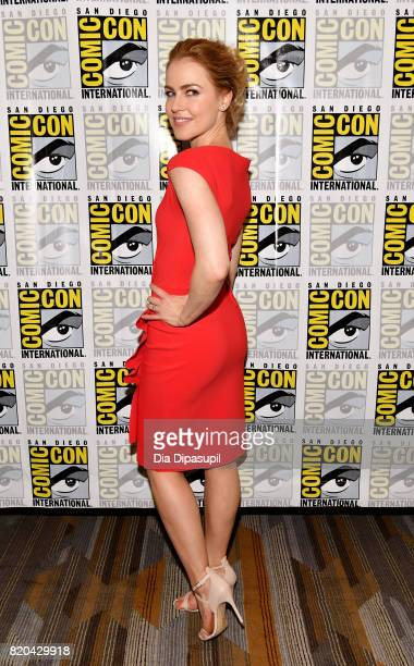 Actress Amanda Schull at the '12 Monkeys' press line during ComicCon International 2017 at Hilton Bayfront on July 20 2017 in San Diego California