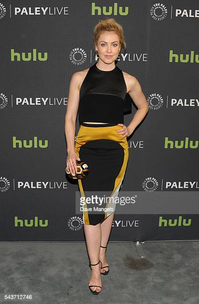 """Actress Amanda Schull attends PaleyLive LA: An Evening With """"12 Monkeys"""" at The Paley Center for Media on June 29, 2016 in Beverly Hills, California."""