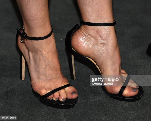 Actress Amanda Schull shoe detail arrives at PaleyLive LA An Evening With '12 Monkeys' at The Paley Center for Media on June 29 2016 in Beverly Hills...