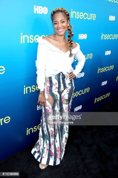 Actress Amanda Seales attends a block party celebrating HBO's new season of 'Insecure' on July 15 2017 in Inglewood California
