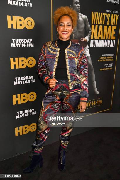Actress Amanda Seales attends the Los Angeles Premiere of What's My Name | Muhammad Ali from HBO on May 08 2019 in Los Angeles California
