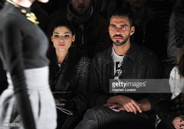 Actress Amanda Setton and Lorenzo Martone attend the Ruffian Fall 2012 fashion show during MercedesBenz Fashion Week at The Studio at Lincoln Center...