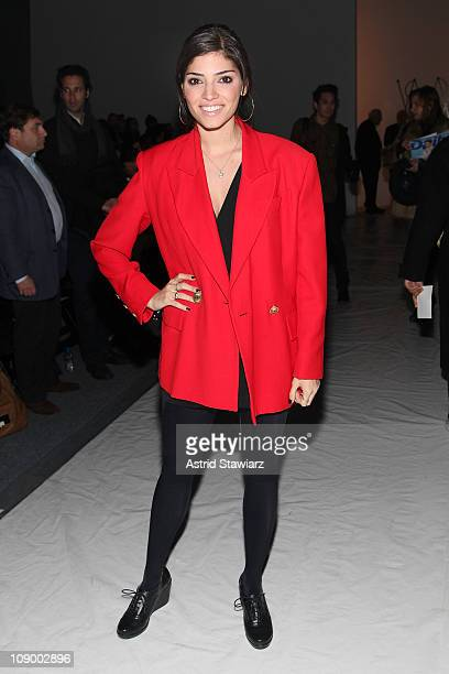 Actress Amanda Setton attends the Ruffian Fall 2011 fashion show during MercedesBenz Fashion Week at The Studio at Lincoln Center on February 11 2011...