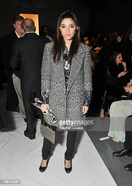 Actress Amanda Setton attends the Ruffian Fall 2012 fashion show during MercedesBenz Fashion Week at The Studio at Lincoln Center on February 11 2012...