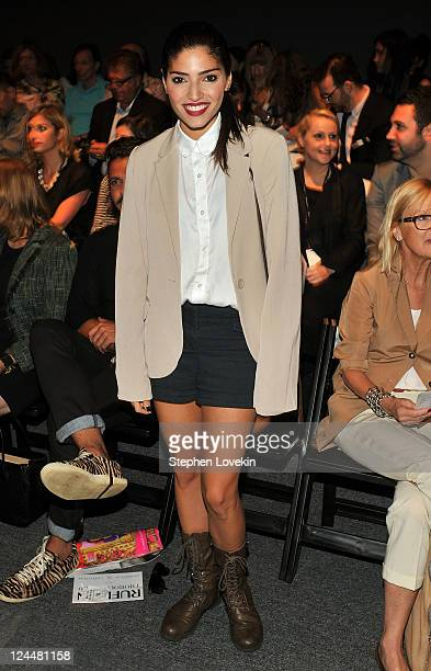Actress Amanda Setton attends the Ruffian Spring 2012 fashion show during MercedesBenz Fashion Week at The Studio at Lincoln Center on September 10...