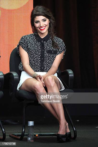 Actress Amanda Setton of the TV show 'The Crazy Ones' attends the Television Critic Association's Summer Press Tour CBS/CW/Showtime panels held at...