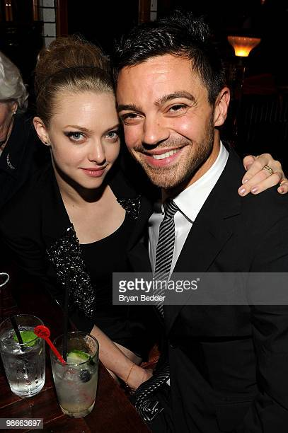 Actress Amanda Seyfried and actor Dominic Cooper attend the Letters To Juliet after party during the 2010 Tribeca Film Festival at La Botega on April...
