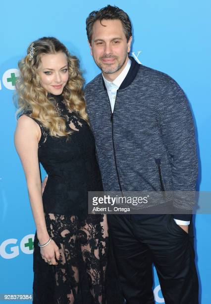 Actress Amanda Seyfried and actor Thomas Sadoski arrive for the Premiere Of Amazon Studios And STX Films' Gringo held at Regal LA Live Stadium 14 on...