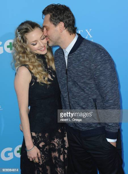 Actress Amanda Seyfried and actor Thomas Sadoski arrive for the Premiere Of Amazon Studios And STX Films' 'Gringo' held at Regal LA Live Stadium 14...
