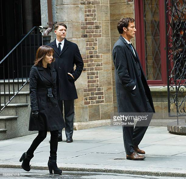 Actress Amanda Seyfried and Clive Owen are seen on September 3 2016 on the set of 'Anon' in New York City
