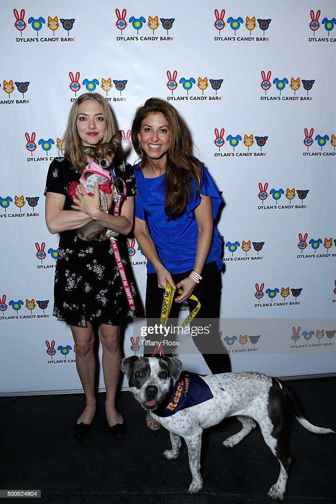 Actress Amanda Seyfried (L) and Dylan Lauren, founder and CEO of Dylan's Candy Bar attend the Dylan's Candy BarN launch event at Dylan's Candy Bar on December 8, 2015 in Los Angeles, California.