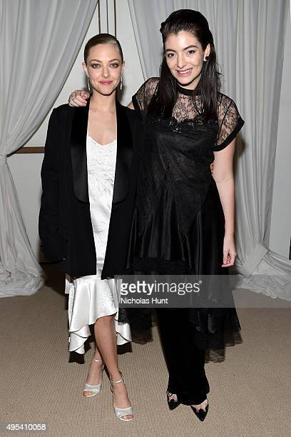 Actress Amanda Seyfried and musician Lorde attend the 12th annual CFDA/Vogue Fashion Fund Awards at Spring Studios on November 2 2015 in New York City