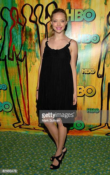 Actress Amanda Seyfried arrives at HBO's Emmy Awards after party at The Plaza at the Pacific Design Center September 21 2008 in West Hollywood...