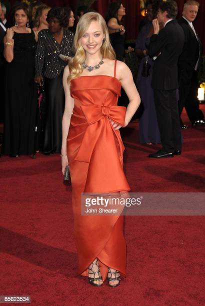 Actress Amanda Seyfried arrives at the 81st Annual Academy Awards held at The Kodak Theatre on February 22 2009 in Hollywood California
