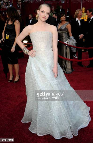 Actress Amanda Seyfried arrives at the 82nd Annual Academy Awards held at Kodak Theatre on March 7 2010 in Hollywood California