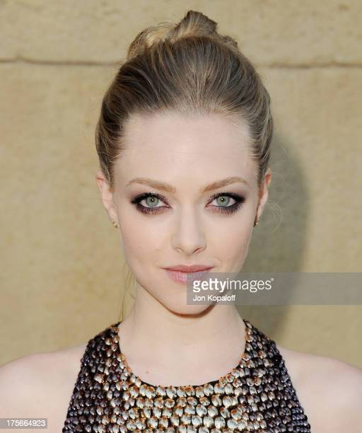 Actress Amanda Seyfried arrives at the Los Angeles Premiere 'Lovelace' at the Egyptian Theatre on August 5 2013 in Hollywood California