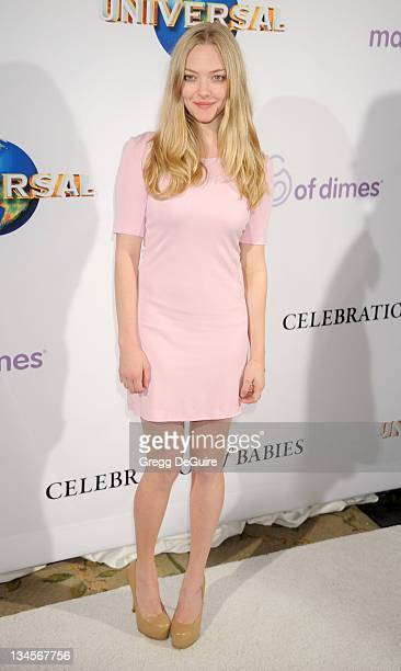 Actress Amanda Seyfried arrives at the March Of Dimes' 6th Annual Celebration Of Babies Luncheon at Beverly Hills Hotel on December 2 2011 in Beverly...