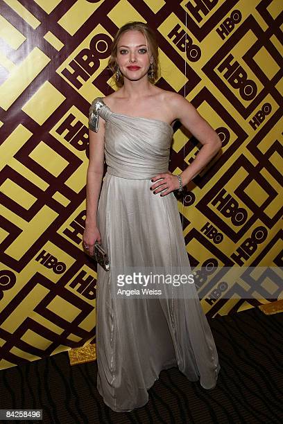 Actress Amanda Seyfried arrives at the official HBO after party for the 66th Annual Golden Globe Awards held at Circa 55 Restaurant Poolside at the...