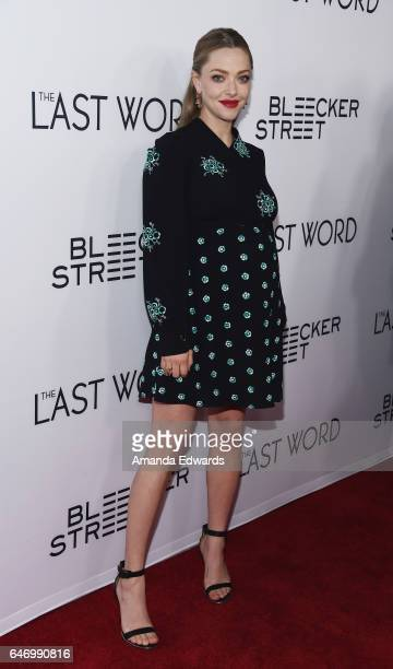 Actress Amanda Seyfried arrives at the premiere of Bleecker Street Media's The Last Word at ArcLight Hollywood on March 1 2017 in Hollywood California