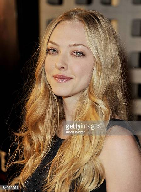 Actress Amanda Seyfried arrives at the premiere of HBO's 'Big Love' 3rd season at the Cinerama Dome on January 14 2009 in Los Angeles California