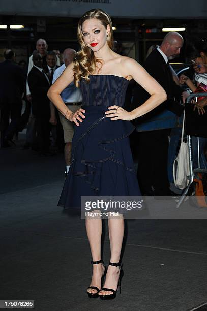 Actress Amanda Seyfried attends a screening of Radius TWC's Lovelace hosted by The Cinema Society and MCM with Grey Goose at The Museum of Modern Art...