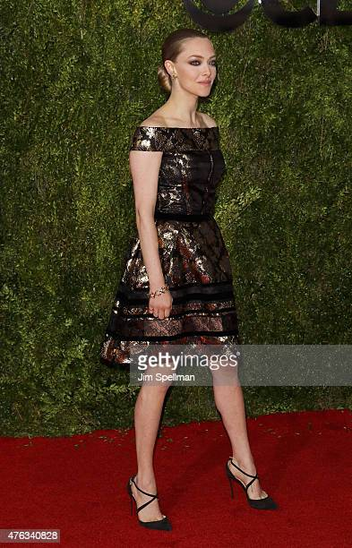 Actress Amanda Seyfried attends American Theatre Wing's 69th Annual Tony Awards at Radio City Music Hall on June 7 2015 in New York City