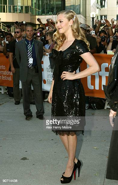 Actress Amanda Seyfried attends 'Chloe' premiere at the Roy Thomson Hall during 2009 Toronto International Film Festival on September 13 2009 in...