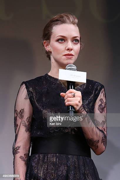 Actress Amanda Seyfried attends 'Cle de peau BEAUTE 2014' promotional event at the Ritz Carlton Tokyo on June 2 2014 in Tokyo Japan