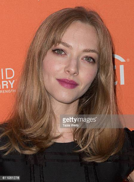 Actress Amanda Seyfried attends Los Angeles' No Kid Hungry Dinner on September 28 2016 in Los Angeles California