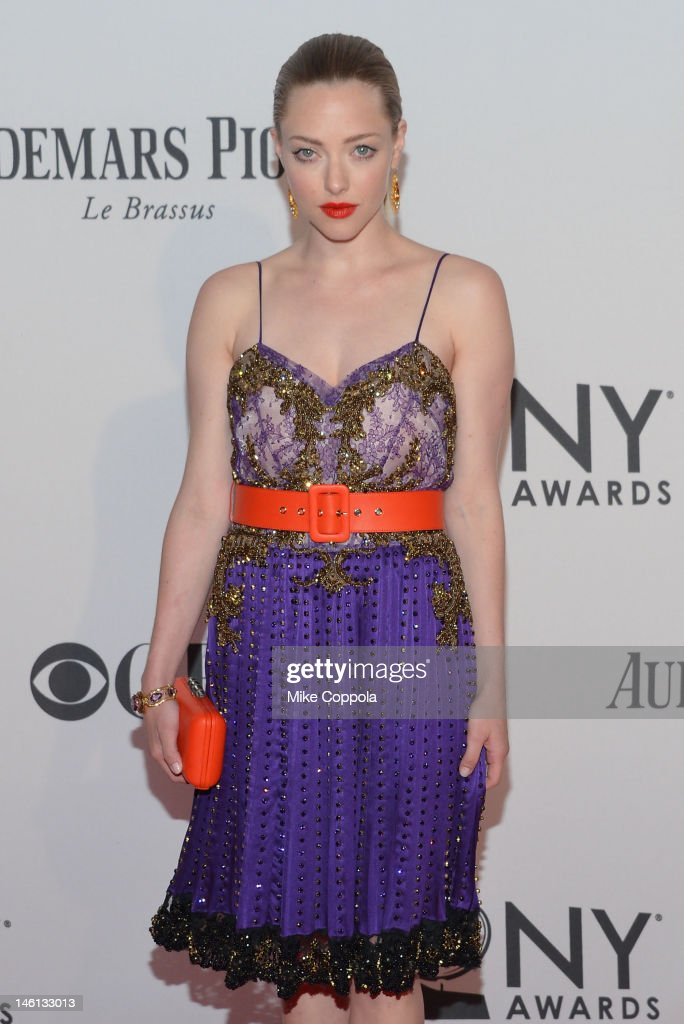 Actress Amanda Seyfried attends the 66th Annual Tony Awards at The Beacon Theatre on June 10, 2012 in New York City.