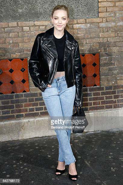Actress Amanda Seyfried attends the Givenchy Menswear Spring/Summer 2017 show as part of Paris Fashion Week on June 24 2016 in Paris France
