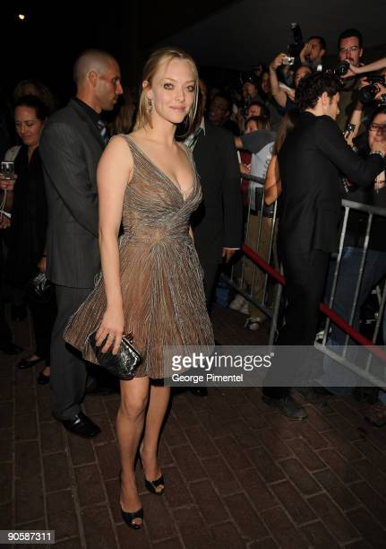 Actress Amanda Seyfried attends the Jennifer's Body premiere at the Ryerson Theatre during the 2009 Toronto International Film Festival on September...