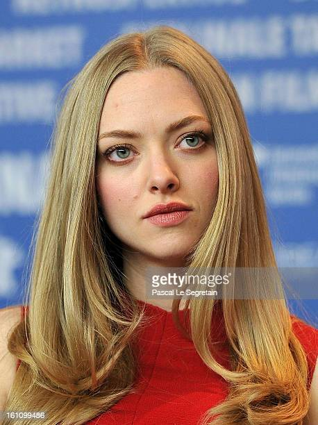 Actress Amanda Seyfried attends the 'Lovelace' Press Conference during the 63rd Berlinale International Film Festival at Grand Hyatt Hotel on...