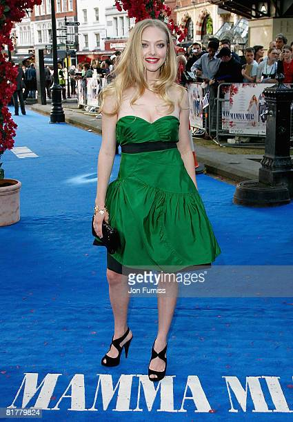 Actress Amanda Seyfried attends the Mamma Mia The Movie world premiere held at the Odeon Leicester Square on June 30 2008 in London England