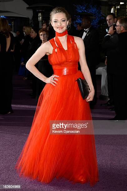Actress Amanda Seyfried attends the Oscars Governors Ball at Hollywood Highland Center on February 24 2013 in Hollywood California