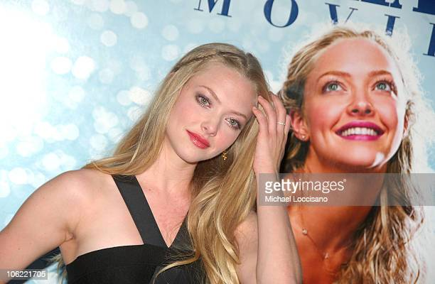 Actress Amanda Seyfried attends the premiere of 'Mamma Mia' at the Ziegfeld Theatre on July 16 2008 in New York City
