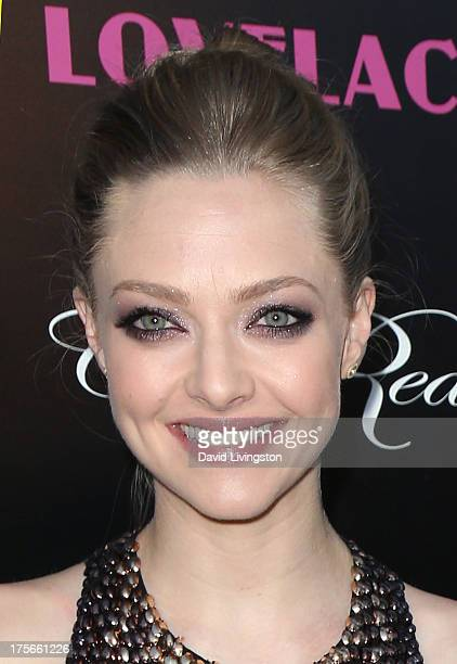 Actress Amanda Seyfried attends the premiere of RADiUSTWC's 'Lovelace' at the Egyptian Theatre on August 5 2013 in Hollywood California