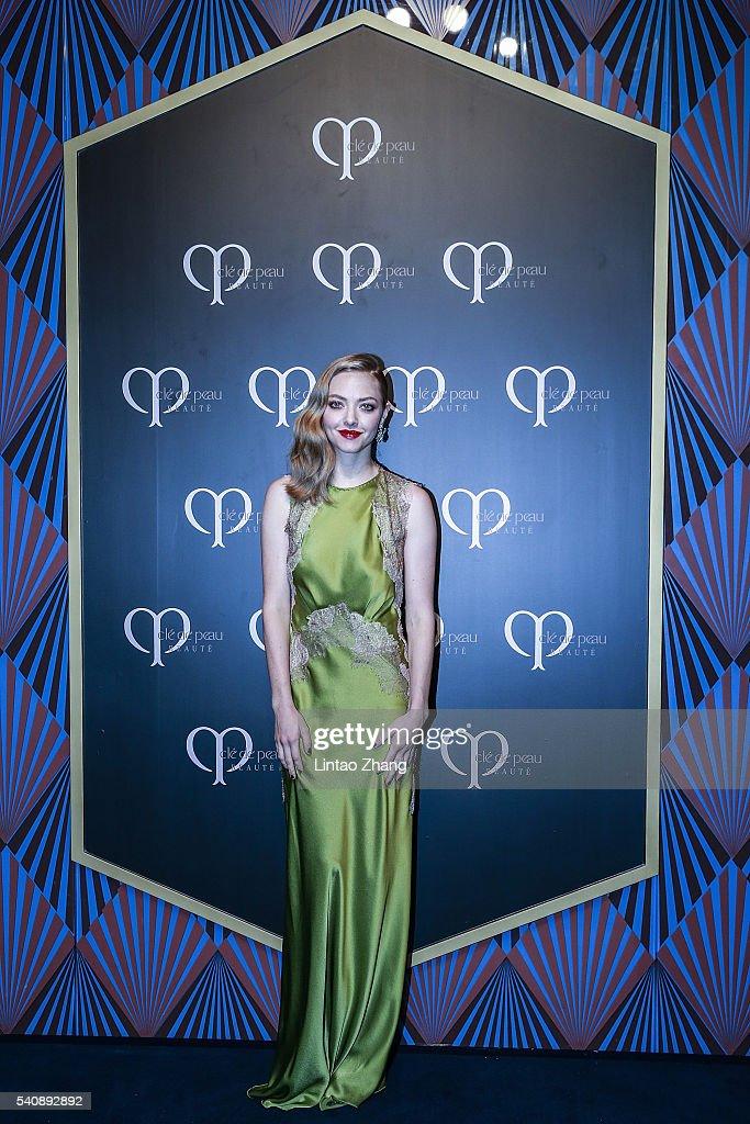 Amanda Seyfried Promotes Cle de Peau Beaute In Shanghai