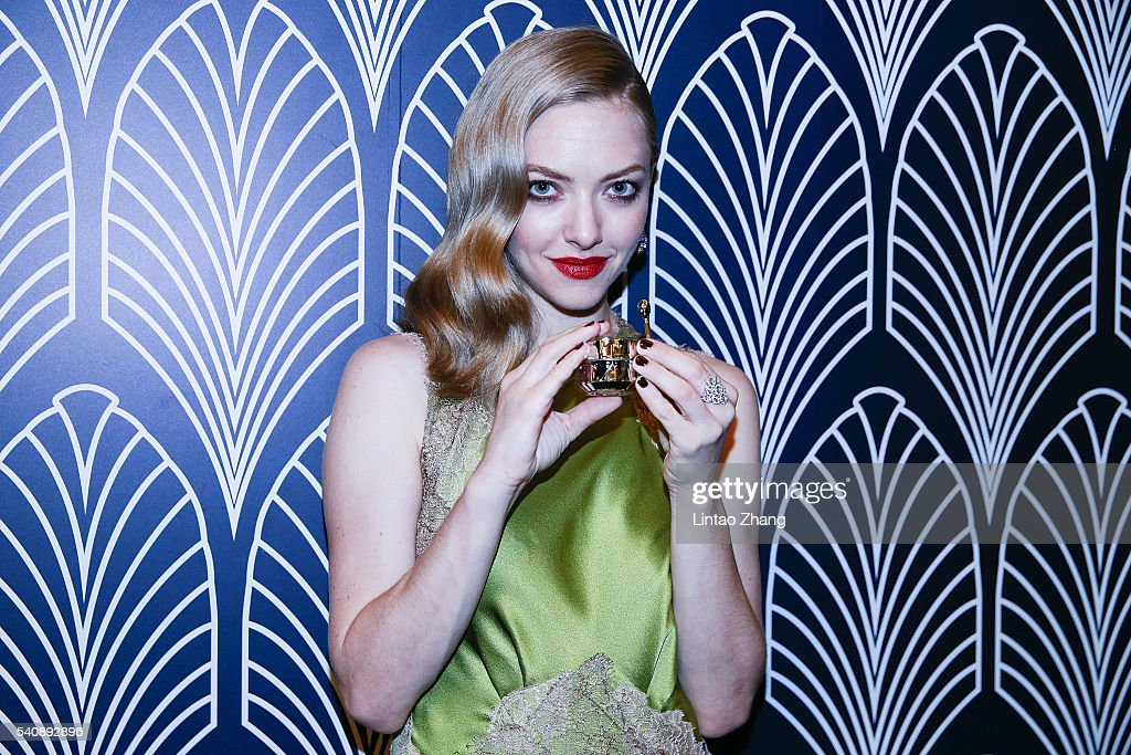 Actress Amanda Seyfried attends the promotional event for Shiseido's Cle de Peau Beaute at Fairmont Peace Hotel on June 16, 2016 in Shanghai, China.