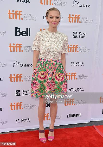 "Actress Amanda Seyfried attends the ""While We're Young"" premiere during the 2014 Toronto International Film Festival at Princess of Wales Theatre on..."