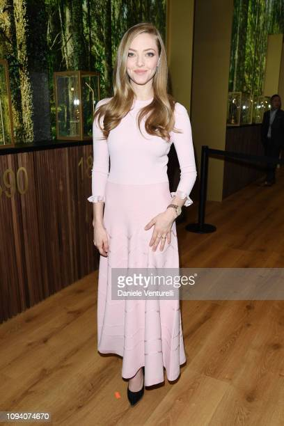 Actress Amanda Seyfried is seen at SIHH 2019 on January 14 2019 in Geneva Switzerland