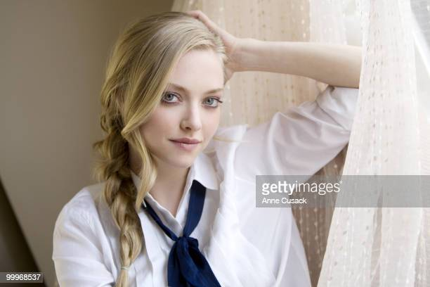 Actress Amanda Seyfried poses for a portrait session at the Four Seasons Hotel on April 20 Los Angeles CA Published Image CREDIT MUST READ Anne...