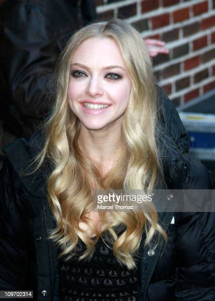 Actress Amanda Seyfried seen arriving at Late Show With David Letterman at the Ed Sullivan Theater on March 1 2011 in New York City