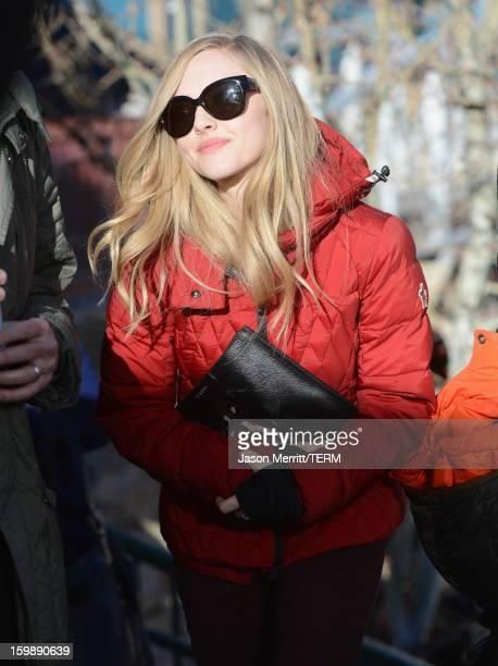Actress Amanda Seyfried seen on January 22 2013 in Park City Utah