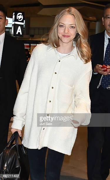 Actress Amanda Seyfried sighting at Narita International Airport on October 11 2015 in Narita Japan