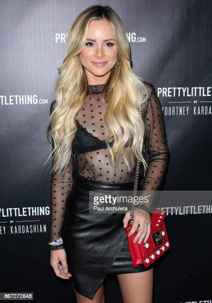 Actress Amanda Stanton attends the PrettyLittleThing by Kourtney Kardashian launch party on October 25 2017 in Los Angeles California