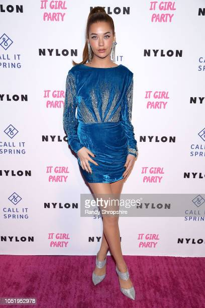 Actress Amanda Steele attends NYLON's annual It Girl Party sponsored by Call It Spring at Ace Hotel on October 11 2018 in Los Angeles California
