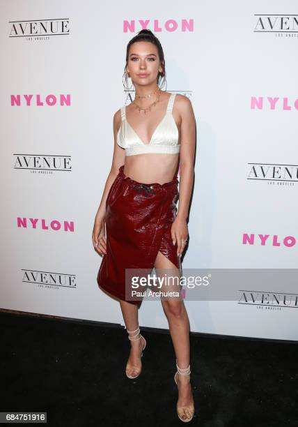 Actress Amanda Steele attends NYLON's annual Young Hollywood May issue event with cover Star Rowan Blanchard at Avenue on May 2 2017 in Los Angeles...