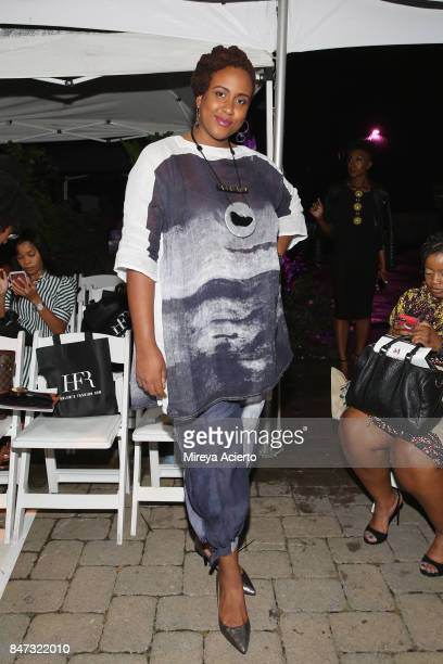 Actress Amanda Stephen from Orange is the New Black attends Harlem's Fashion Row 10th Anniversary Style Award and Fashion Show at La Marina...