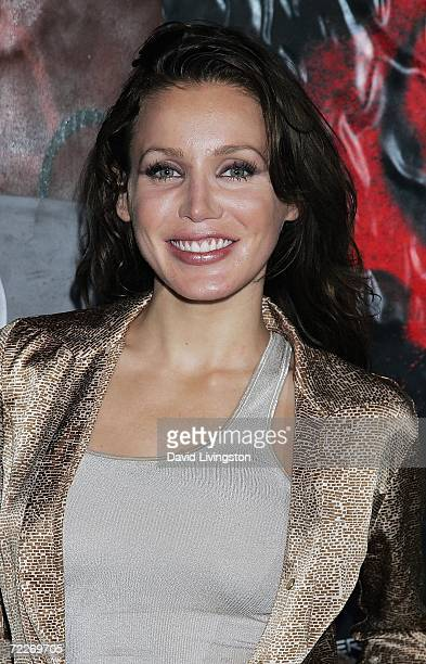 Actress Amanda Swisten attends the Xbox 360 'Gears of War' party at the Hollywood Forever Cemetery on October 25 2006 in Hollywood California